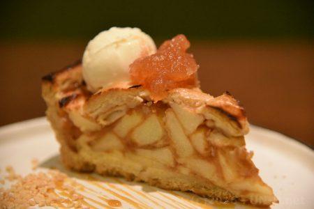 ドーンとふじりんごのパイ、ふじりんごジャム&アイスのせ